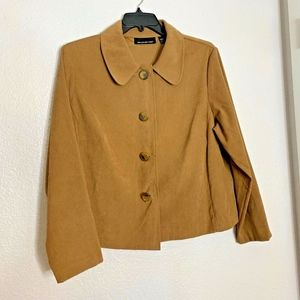 Briggs New York Womens Sz 18 W Carmel Brown Jacket